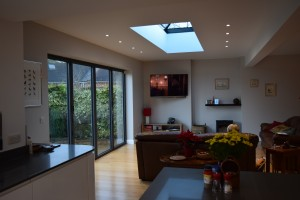 Architectural design Adlington near Macclesfield. After showing bifolding doors in contemporary interior.