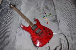 Guitar in Siddington loft conversion