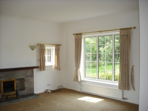 Architectural design Adlington near Macclesfield. Before showing empty room with barred windows.